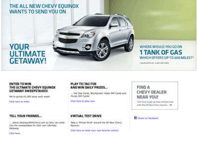 Chevy Equinox home page