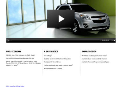 Chevy Equinox virtual test drive