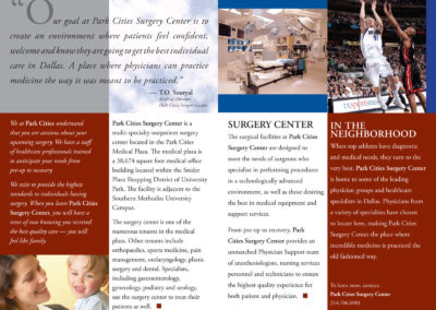 Park Cities Surgery Center brochure