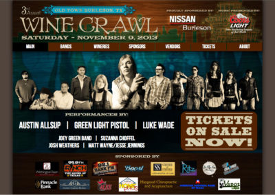 Burleson Wine and Beer Crawl event website