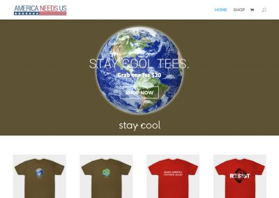 AmericaNeedsUs.com eCommerce website