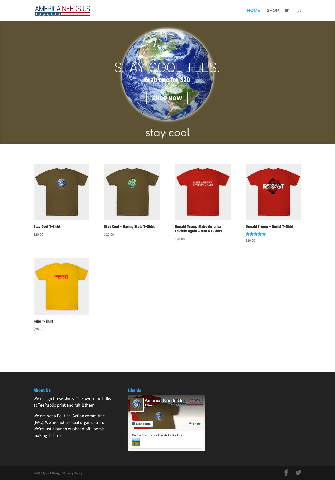 Ecommerce website type a design for T shirt ecommerce website