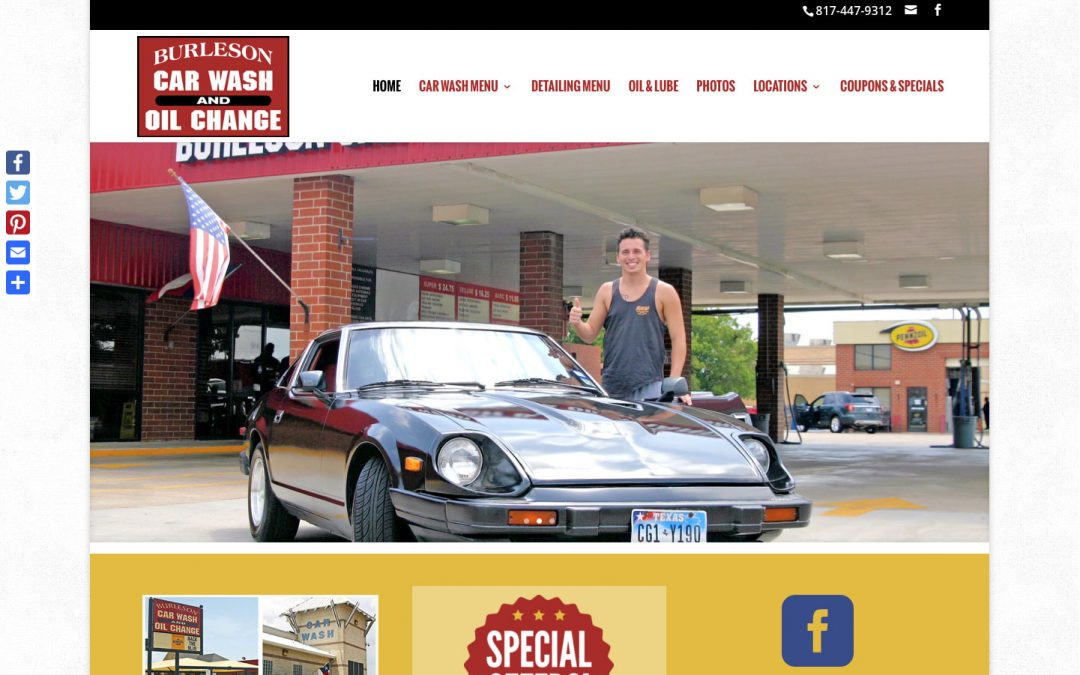 Burleson Car Wash website