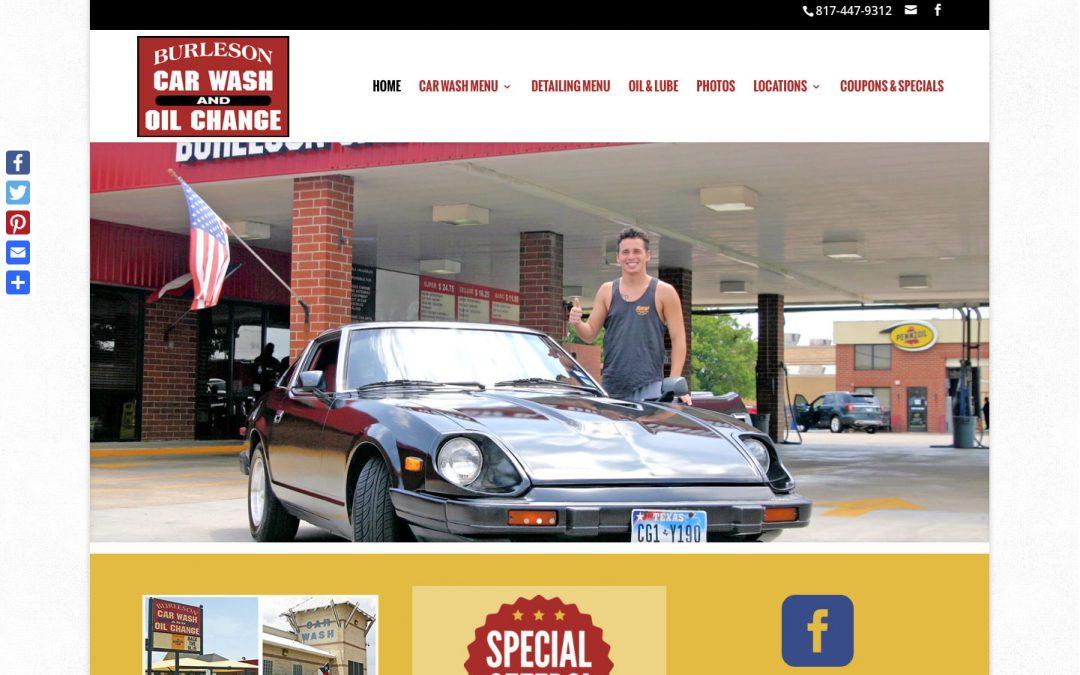 Burleson Car Wash website