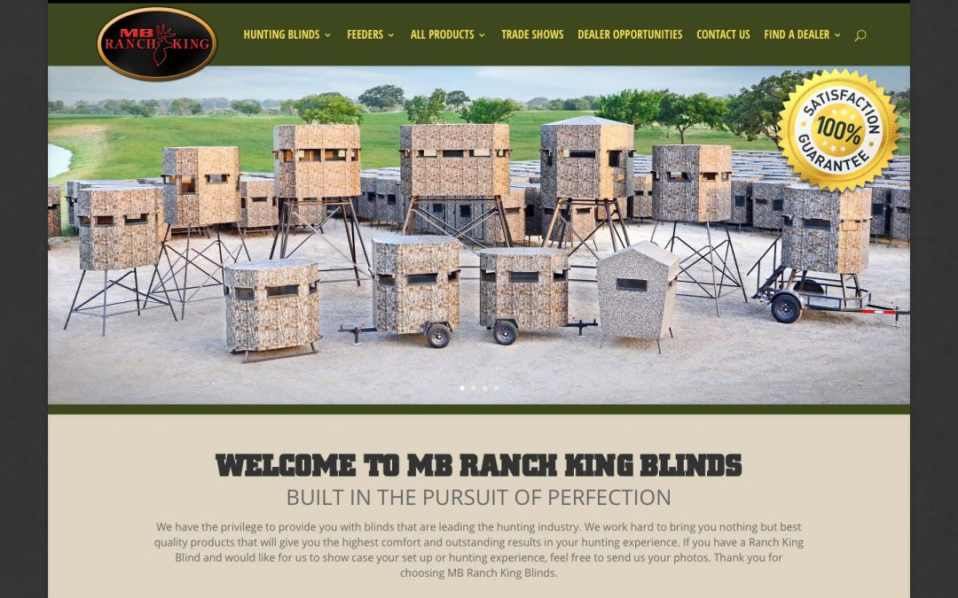 Ranch King Blinds website