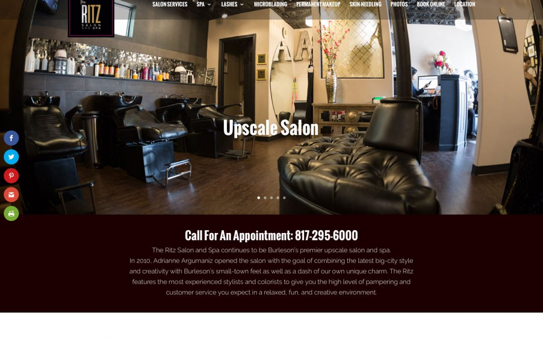 The Ritz Salon and Spa website