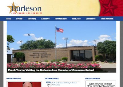 Burleson Area Chamber of Commerce website