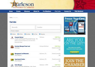 Job listings board
